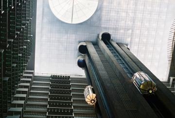 Elevators at the Hyatt Regency