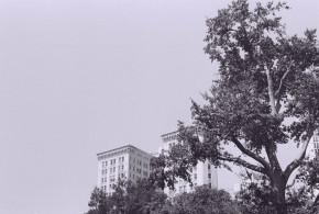 One Ninety One Peachtree Tower seen from Hurt Park