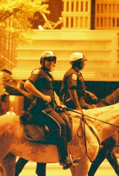Policemen on horses