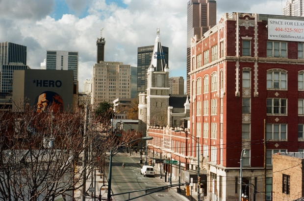 Old Sweet Auburn and City Skyline - 1