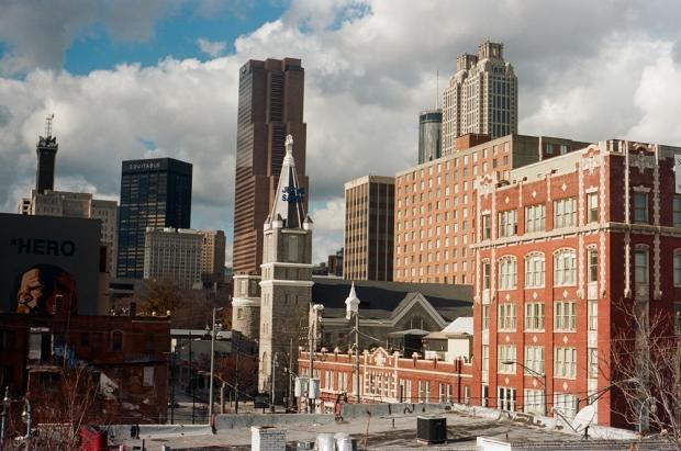 Old Sweet Auburn and City Skyline - 2